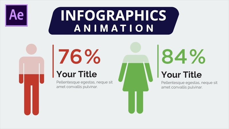 After Effects Animation Tutorial Infographics Human Progress Bar