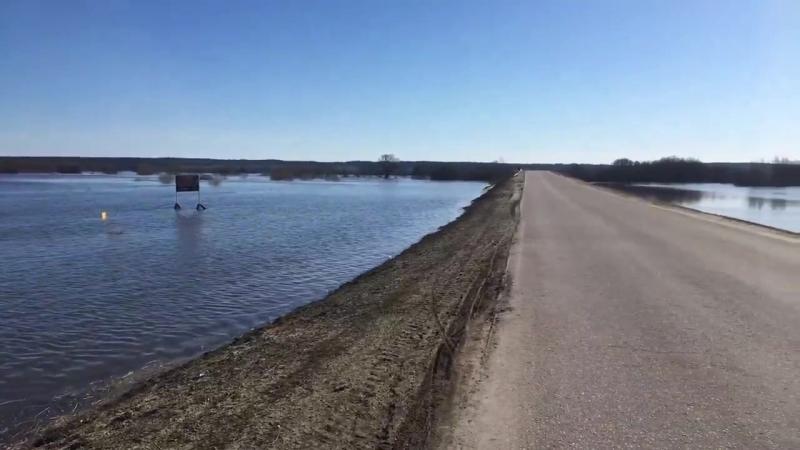 Село Кузьмина гать Паводок 2018 Тамбовская область