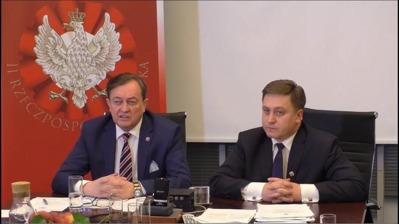 Rada Państwa przy Nowogrodzkiej Konferencja Prezydent IIRP Jan Potocki i adw. Michał Klimczak