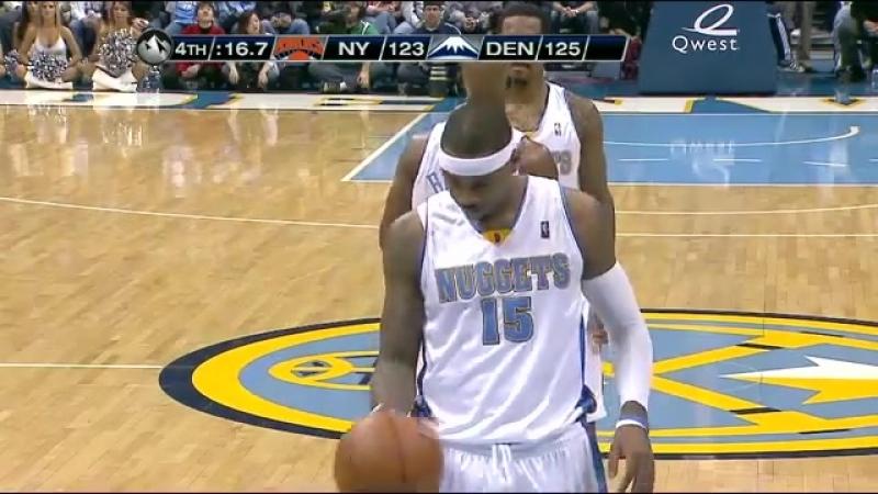 2009 - DENVER NUGETS - NEW YORK KNICKS - 27 Kasım (Carmelo 50 sayı)