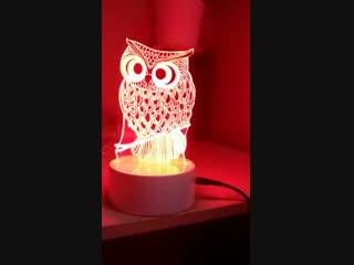 Ночник 3D отлично подойдет: - Любителям необычных домашних вечеринок; - Влюбленным для романтического вечера – намного лучше любых свечей; - Замечательный подарок ребенку любого возраста; - Уютный прикроватный ночник - Поможет спокойно заснуть ребенку, который боится темноты; - Интересное и креативное устройство для вашего дома, а также для дома ваших друзей! Питание USB Цвета меняются с кнопки 800 руб и есть с пульта( управление) 1000 руб Есть сменные картинки по 400 руб Светодиодная база 100x40 мм Акриловое стекло 170x4 мм Шнур usb 990 мм Высота в сборе 190-200 мм
