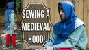 How to Sew a Medieval Men's Hood! (Last piece of the Carpenter Outfit!)