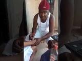 Native doctor doing juju for Yahoo boys in Nigeria