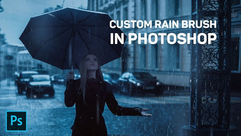 Realistic RAIN EFFECT in Photoshop with CUSTOM RAIN BRUSH - Easy!