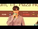 [FANCAM] 18.05.2018: Сончжэ @ Fan Meeting in Hong Kong Press Conference