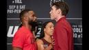 UFC 228: Tyron Woodley vs. Darren Till Media Day Staredown - MMA Fighting ufc 228: tyron woodley vs. darren till media day stare
