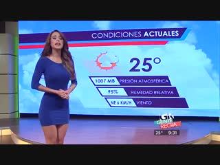 Ведущая прогноза погоды yanet garcia