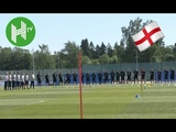 England squad observe minute's silence for Grenfell victims ahead of training in Saint Petersburg