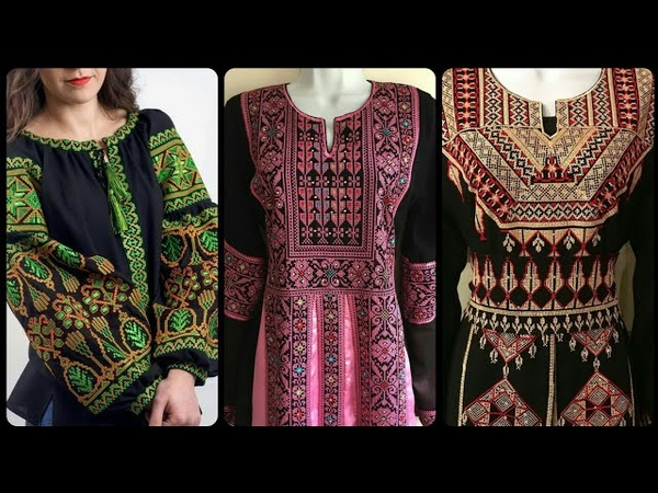 Latest handmade Palestinian embroidery dress/ cross stitch