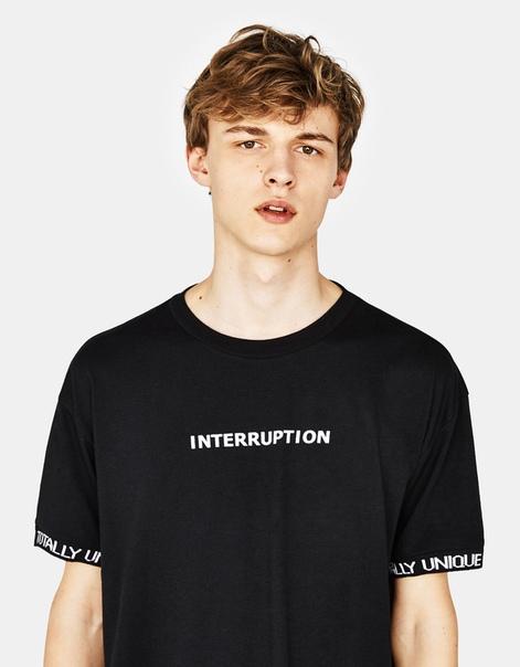 Трикотажная футболка с надписью
