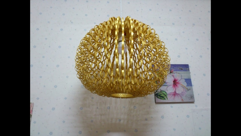 D.I.Y. Lamp made from reused paper (Hanging)