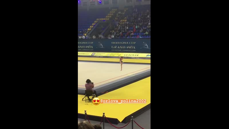 Полина Орлова - Обруч (финал) Deriugina Cup 2019, Киев