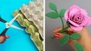 DIY Rosas con Cartón de Huevo Manualidades Fáciles - Reciclaje útil