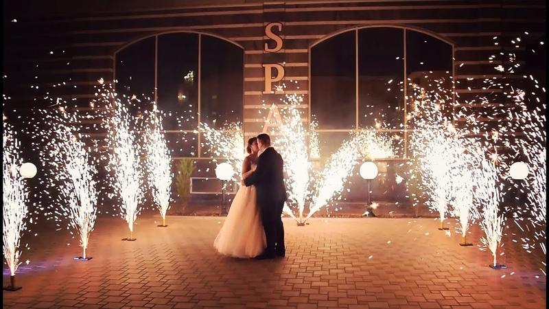 Трилистник и холодные фонтаны на свадьбу | Ростов | GOF show