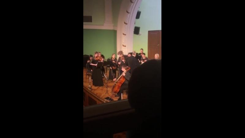 А.Вивальди.  Концерт для двух скрипок и виолончели с оркестром d-moll. lllч.