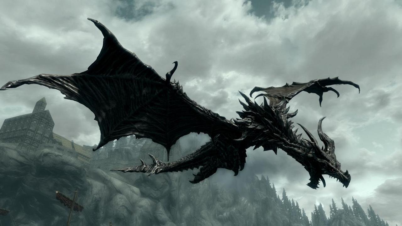 дракон скайрима картинки верхнегубные