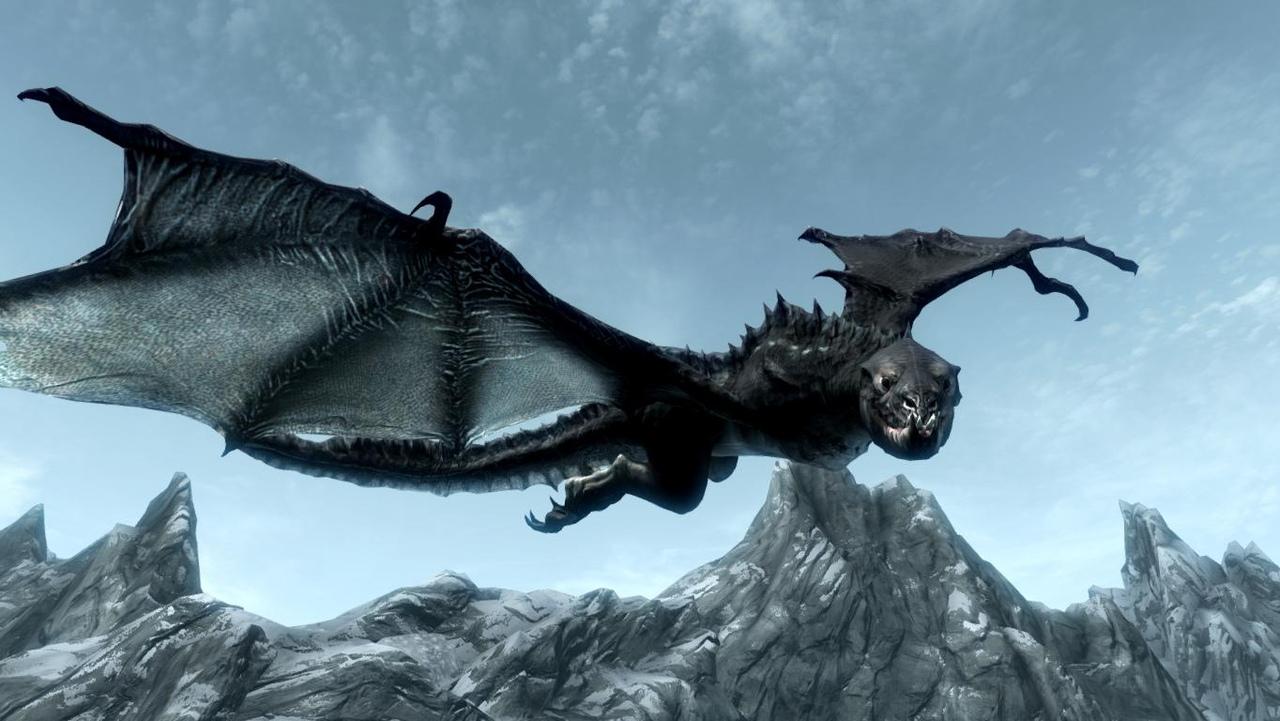 дракон скайрима картинки воспаление