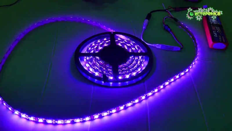 Светодиодная LED лента WS2811 SMD5050 и контроллер SP103E