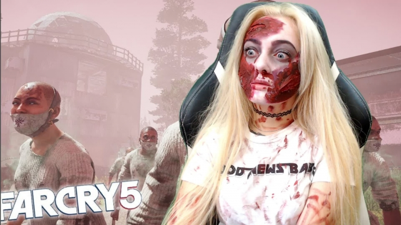 Far Cry 5! Апокалипсис ЗОМБИ! Доброе утро вместе с Леськой :DD и зомбаками :D