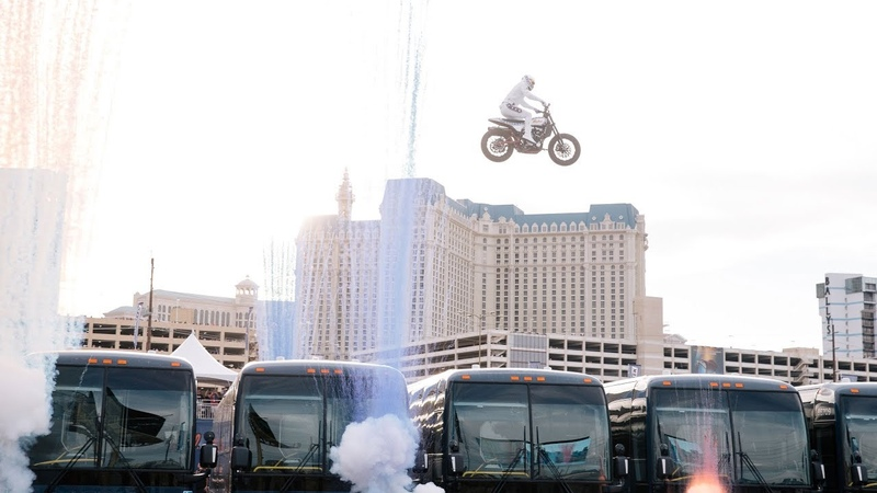 Travis Pastrana Jumps 16 Greyhound Buses EVEL LIVE