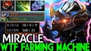 Miracle Luna WTF Farming Machine 1100 GPM Double Rampage 7 20 Dota 2