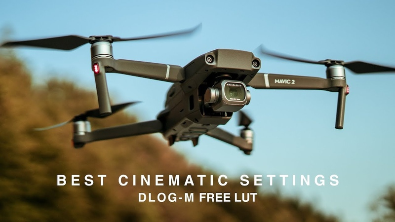 DJI MAVIC 2 PRO | BEST CINEMATIC SETTINGS | H.265 DLOG-M FREE LUT