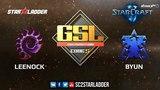 2018 GSL Season 2 Ro32 Group A Match 2 Leenock (Z) vs ByuN (T)