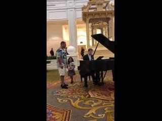 Man Sings Ave Maria in Lobby of the Grand Floridian Hotel, Disney World