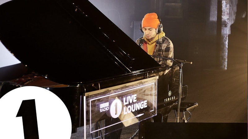 Tyler from Twenty One Pilots Neon Gravestones in the Live Lounge