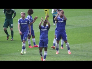 Chelsea Fans Goodbye To Ashley Cole