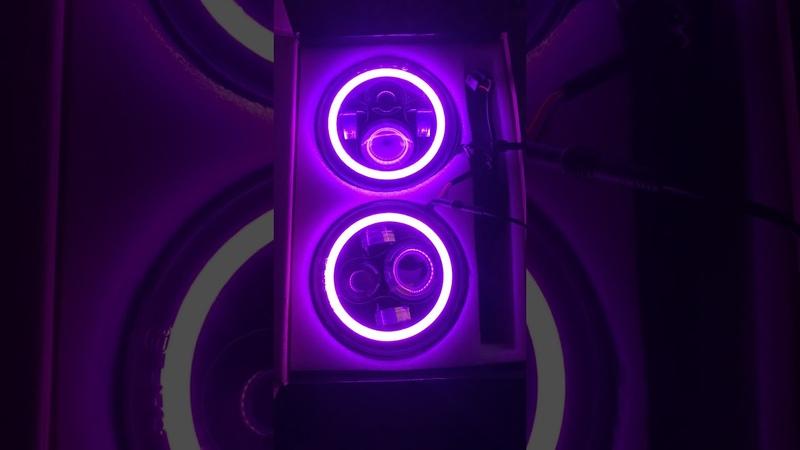 Led фары 7 с RGB подсветкой для УАЗ, Нива, ВАЗ, Jeep, и др.