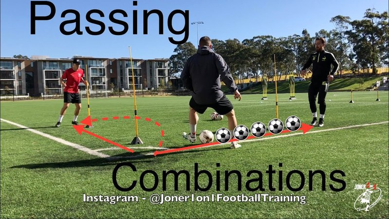 Loads of passing 1st touch combinations - Joner 1on1