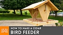 How to Make a Bird Feeder Woodworking