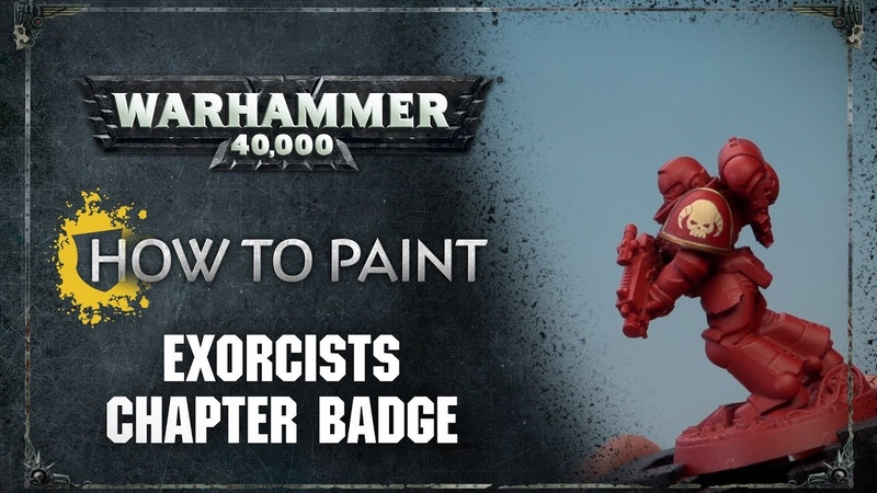How to Paint Exorcists Chapter Badge