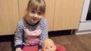 Кира играет в куклу Беби Бон