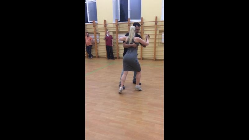 Аргентинское танго. Милонга. Ч.1. Сара Вестин и Хуан Канавире. 24.05.2018