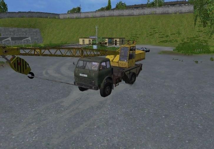 МАЗ 5516 КРАН V1.0