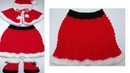Christmas baby outfit *Knit baby skirt*