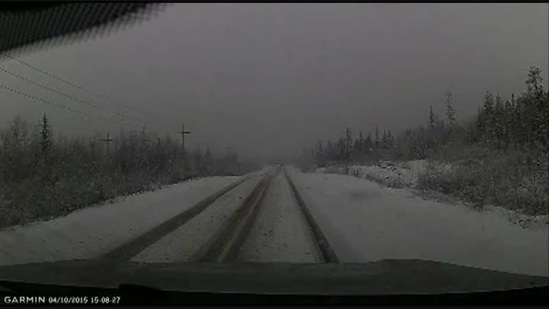 внезапный снегопад и летняя резина