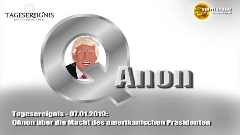 Tagesereignis - QAnon über die Macht des amerikanischen Präsidenten