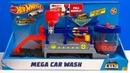 Hot Wheels Mega Car Wash Color Shifters City Play Set!