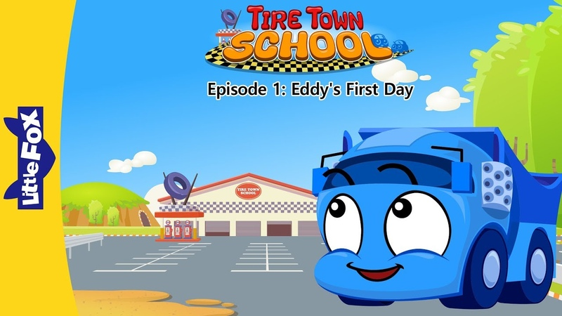Tire Town School 1 | Eddy's First Day | Cars | Little Fox | Animated Stories for Kids