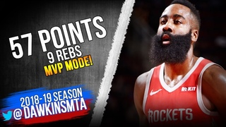 James Harden UNREAL 57 Pts Performance 2019.01.14 Rockets vs Grizzlies - MVP! | FreeDawkins