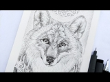 Wolf Nadiya Vasilkova pointillism