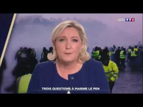 MARINE LE PEN MESSAGE A MACRON ( TF1 20 H )