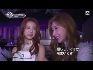 """190318 mnet japan m countdown backstage itzy """"dalla dalla"""""""