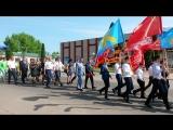 Праздничное шествие колонны на День Победы