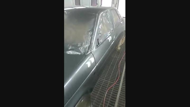 Покараска Lada Priora в покрасочной камере