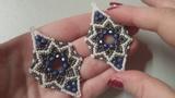 Tutorial orecchini Ishtar con rocailles e mezzo cristalli