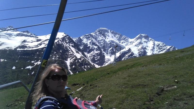 Чегет. Подъём на высоту 2500 метров.